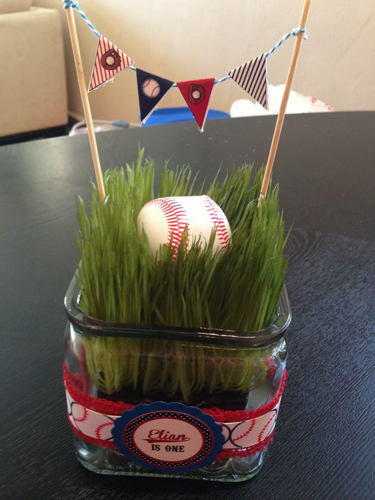 Best baseball party centerpieces ideas on pinterest