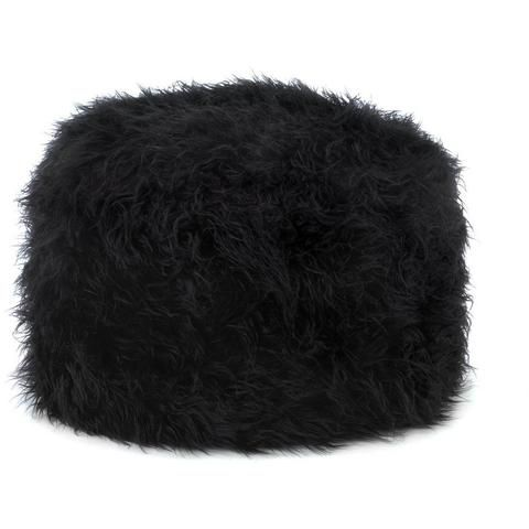 Brown Shaggy Ottoman Pouf, Foot Rest