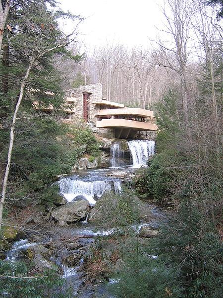 Frank Lloyd Wright's Falling Water in Mill Run, Pennsylvania.