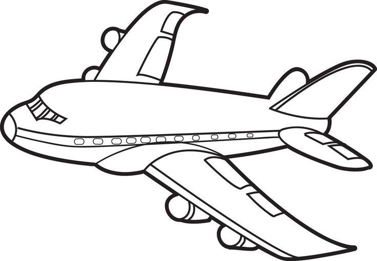 Открытки, картинки самолета для детей раскраска