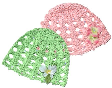 I've been looking for a lightweight open stitch springy hat and this looks like the perfect one.  Free Pattern
