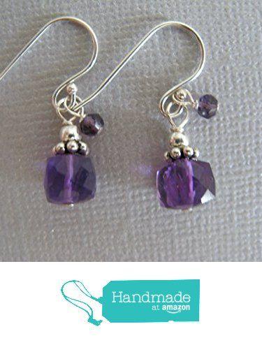 Amethyst Gemstone Cube Sterling Silver Earrings Handcrafted Artisan February Gemstone from Sundance Treasures Jewelry http://www.amazon.com/dp/B017JA8XKM/ref=hnd_sw_r_pi_dp_1mLQwb1MS2894 #handmadeatamazon