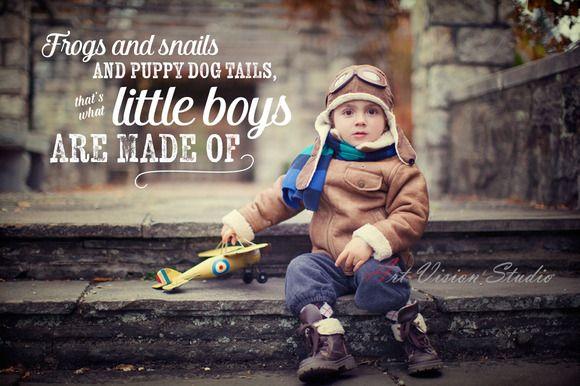 Boy Word Phrase Photo Overlay by Studio29 on Creative Market