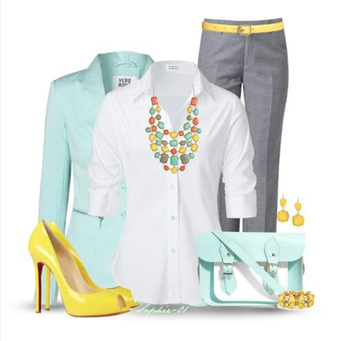 Outfit pantalon gris - Colores para combinar con gris claro ...