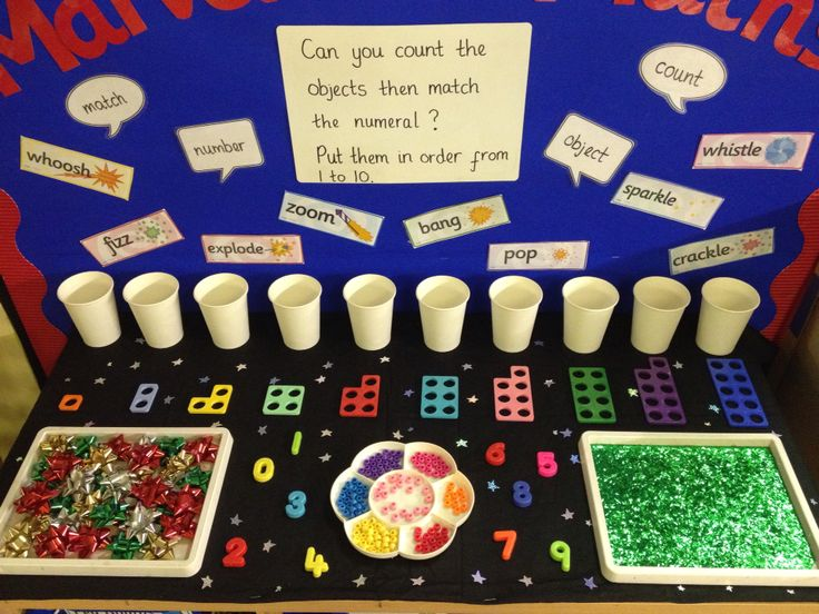 Interactive maths display - counting