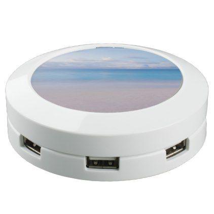 Beautiful Serene Ocean and Beach Paradise USB Charging Station - beautiful gift idea present diy cyo