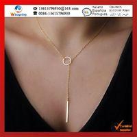 Горячие $0.6 / pc мода свободного покроя личность крест бесконечность аркан подвеска позолоченные ожерелье