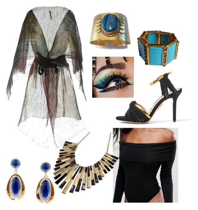 """""""Ancient Egyptian Outfit"""" by miwemporium92 on Polyvore featuring Meghna Jewels, PierAntonio Gaspari and ASOS"""