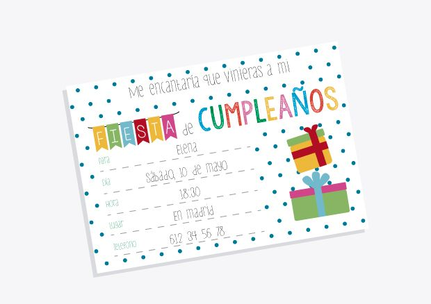 Make it yourself: // Invitaciones de cumpleaños infantiles