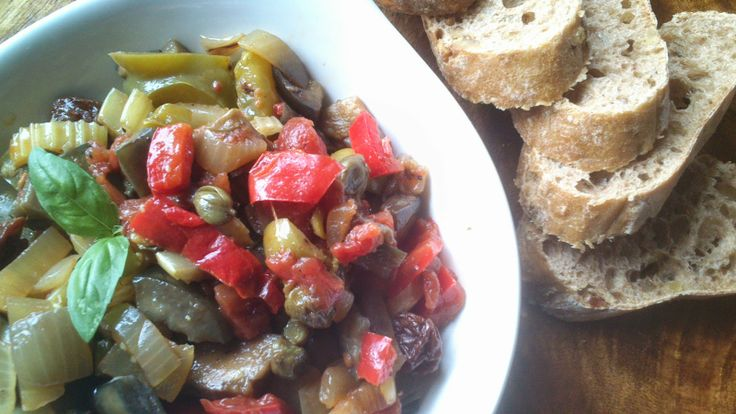 LA COCINA DE MARIANNE: caponata (ensalada siciliana de berenjena, alcapar...