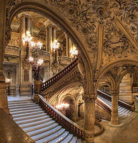 Palais Garnier (Paris Opera House). Charles Garnier, architect. #experimentsinmotion #motion