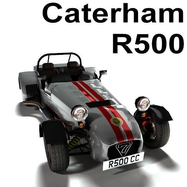 Caterham R500: 3d Caterham R500 Model