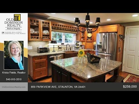 859 PARKVIEW AVE STAUNTON Virginia Homes for Sale | www.olddominionrealty.com - YouTube