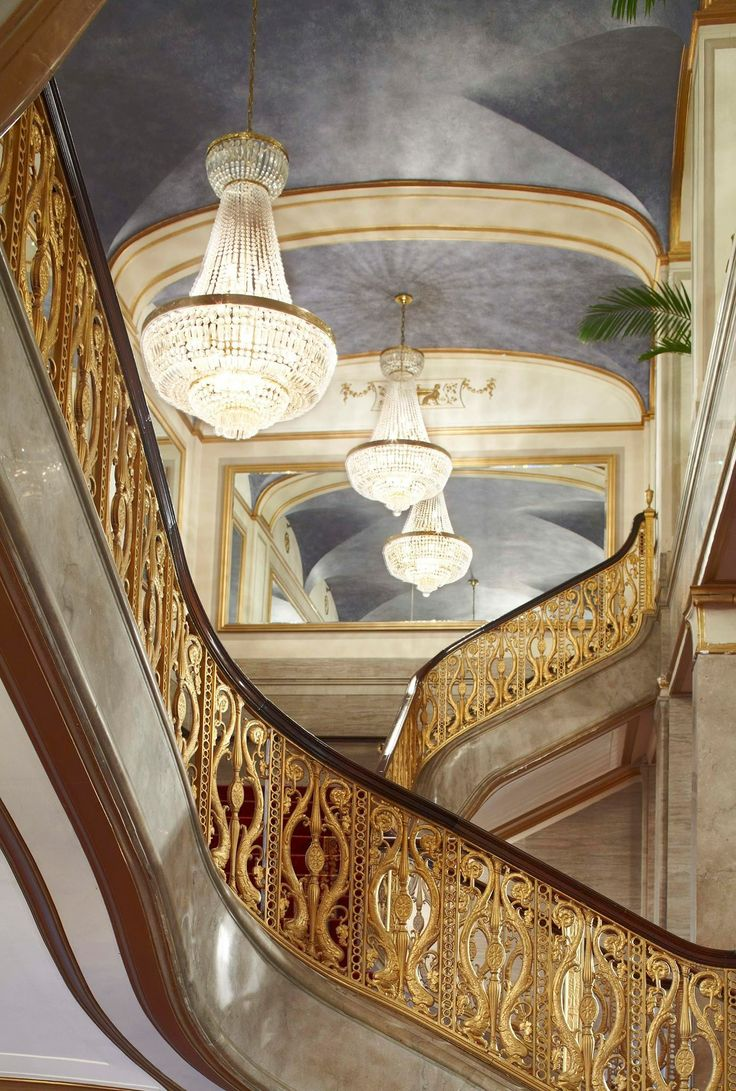 A stairway in the Renaissance Hotel in Cleveland Ohio
