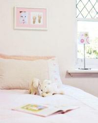 baby footprint frame for girls bedroom