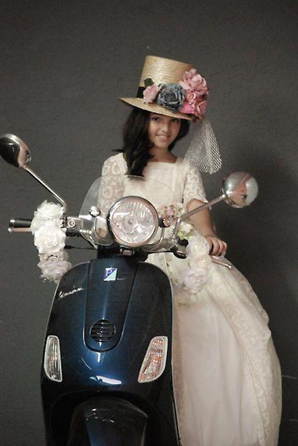 Vestido de noche vino classic scooter