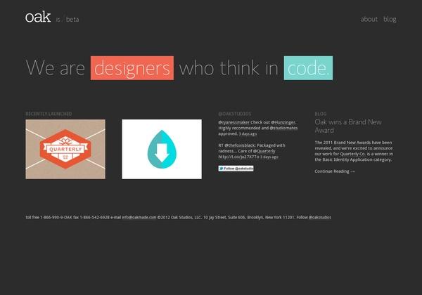 http://oak.is via @url2pin: Design Inspiration, Graphic Design, Website, Url2Pin Webdesign