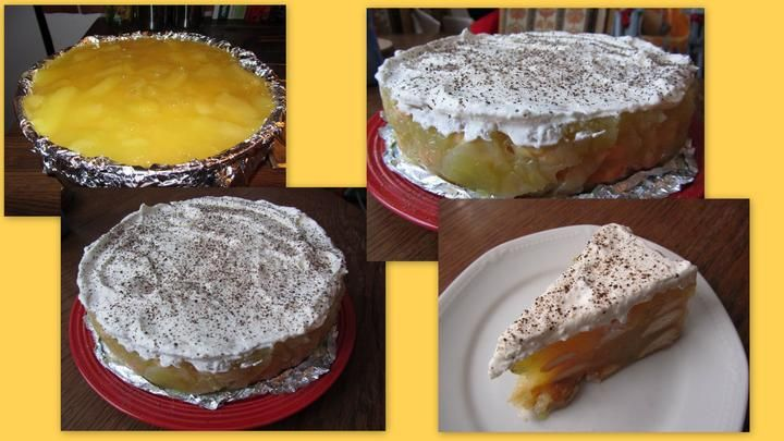 Nepečený jablečný dort