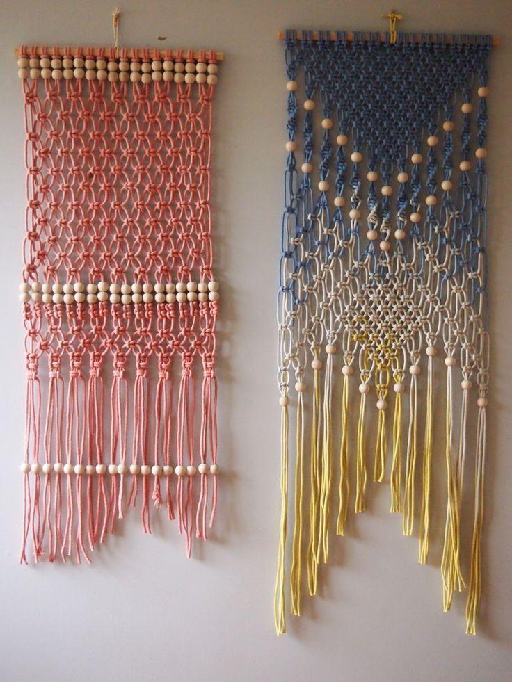 Plus de 25 id es uniques dans la cat gorie tapisserie au crochet sur pinterest bag crochet - Decoration murale macrame ...