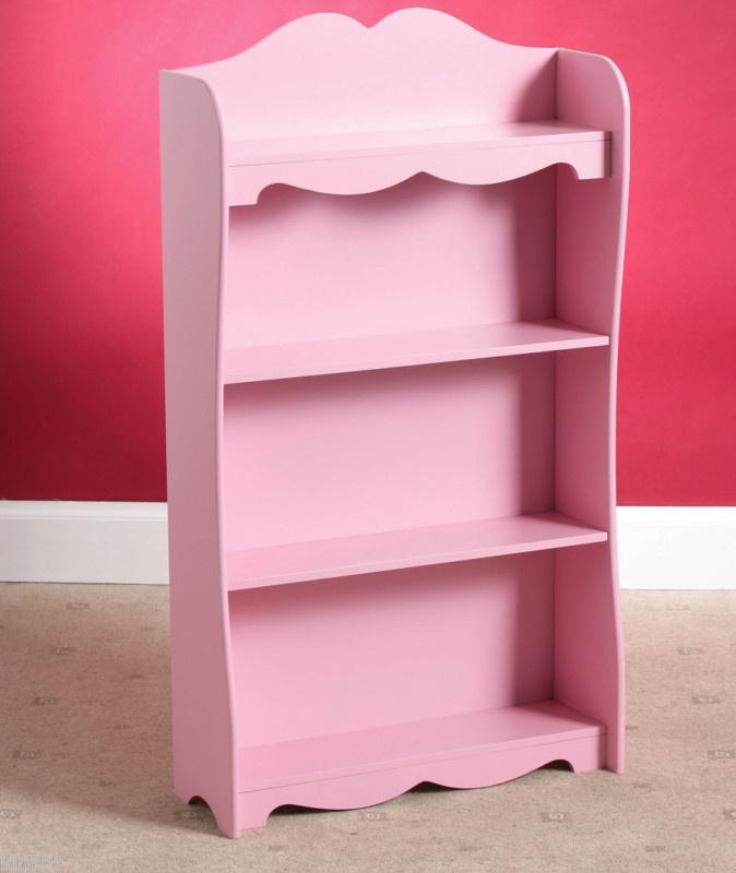 Girls Room Pink Princess Bookshelf Storage Cabinet Unit