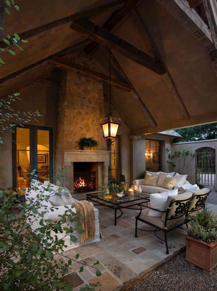 30 irresistible outdoor fireplace ideas that will leave - Leave you dead in the living room ...