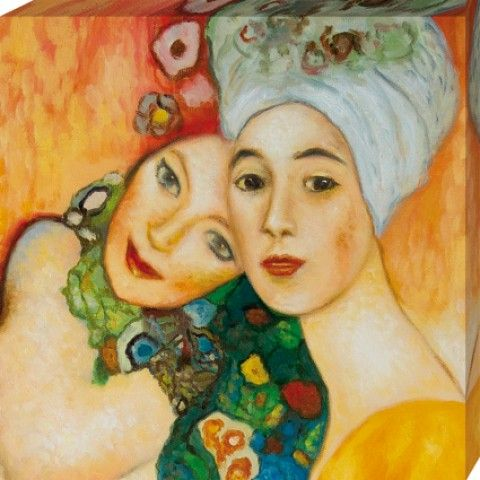 Gustav Klimt - Girlfriends Or Two Women Friends, 1916 - 1917 - Stretched Canvas Prints - buy posters online with 1art1                                                                                                                                                     More