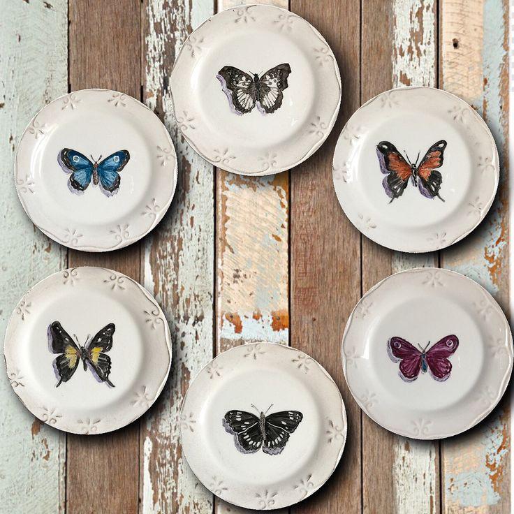 Hand painted bread plates by @azarraluqui #andreazarraluqui