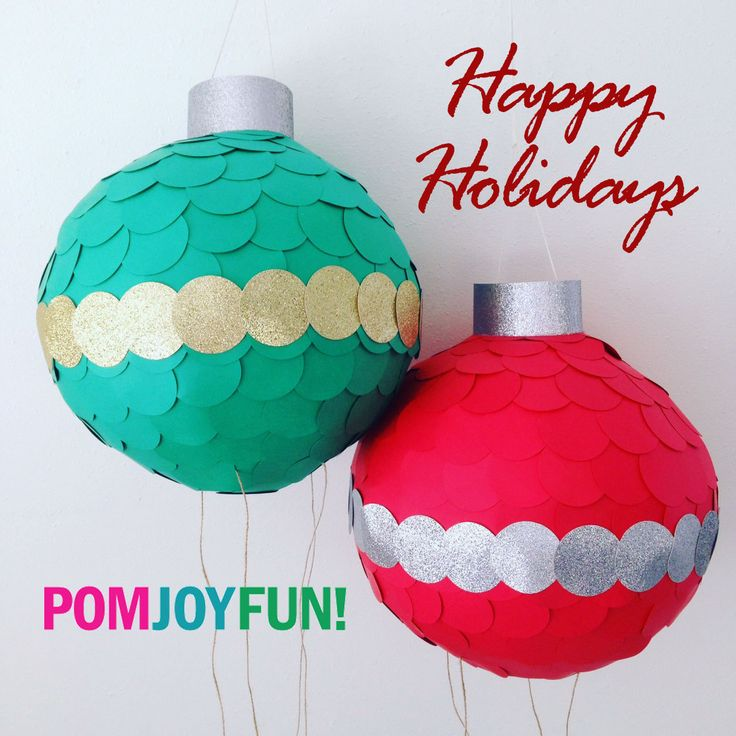 Gender Reveal Ornamnent Piñata, Christmas Piñata, Gender Reveal Pinata in red, green or royal blue by PomJoyFun on Etsy
