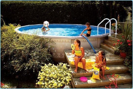 Above Ground Pool Deck Ideas Yellow