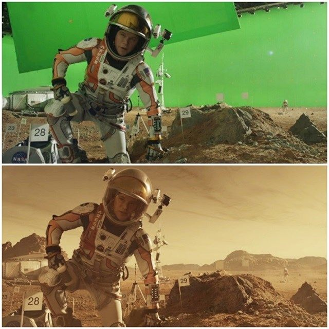 """Antes e depois dos efeitos especiais: """"Perdido em Marte"""""""