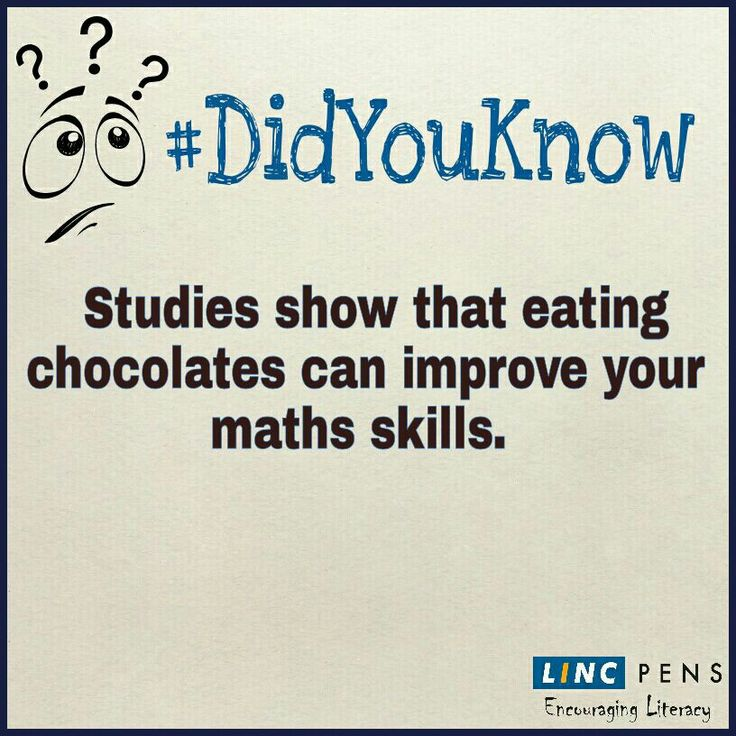 #Studies show that eating #chocolates can #improve your #maths #skills. #LincPens #EncouragingLiteracy