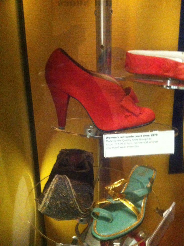 Ankle red heel from the Northampton shoe museum