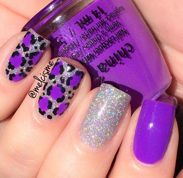Bright purple leopard print