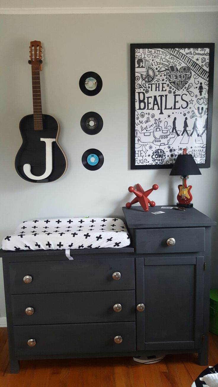 Rocker baby room Rock and Roll nursery
