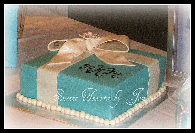 Breakfast at Tiffany's Bridal Shower Cake