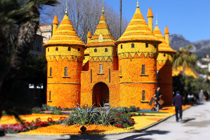 This is a castle made of oranges and lemons in Menton on the French Riviera http://huff.to/wxC2OR