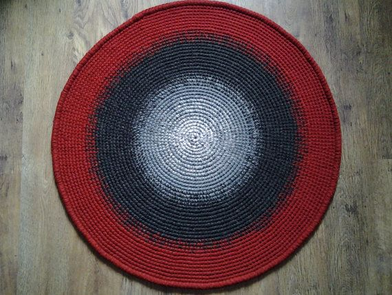 Crochet round rug 45'' 112 cm/Crochet by AnuszkaDesign on Etsy