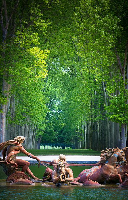 Apollo Fountain - The Palace of Versailles is a royal chateau in Versailles in the Ile-de-France region of France.