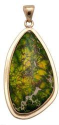 Alchemia Green Jasper Pendant with Lip