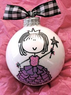 Princess Hand Painted Personalized Ornament