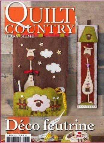 quilt country Deco feutrine