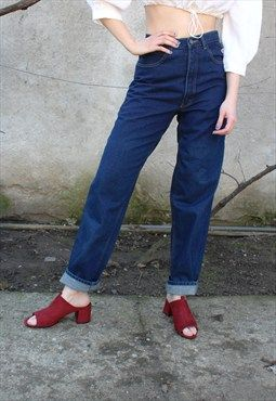 John F Gee High Waisted Boyfriend Jeans