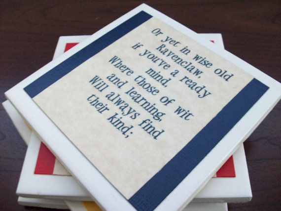 Harry Potter Coasters  - Sorting Hat song