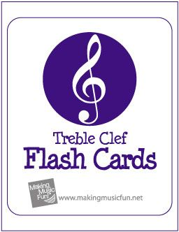 Free Printable Music Flash Cards: Treble Clef
