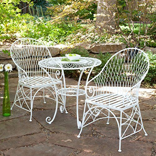 White Modern 3-Piece 30 in. Round Iron Bistro Set | Perfect Contemporary Patio Conversation Furniture Set for Your Home Outdoors by Gazebo, Backyard, BBQ Grill, Fire Pit, Pool or Garden Gramercy Home http://www.amazon.com/dp/B01AWXB4CW/ref=cm_sw_r_pi_dp_5Ed4wb0SBQKXT