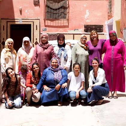 Mushmina was founded by sisters Heather and Katie O'Neill, who provide employment opportunities for artisans, both women and men throughout workshops and small businesses in Morocco, with specialties in metal-smithing, leather-working and textile production. Each artisan is empowered by contributing in their own ways to the creative process in this global exchange.