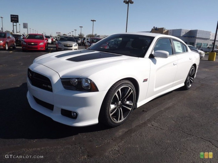 bright white 2013 dodge charger srt8 super bee exterior photo 72896871 - Dodge Charger 2013 White Black Rims