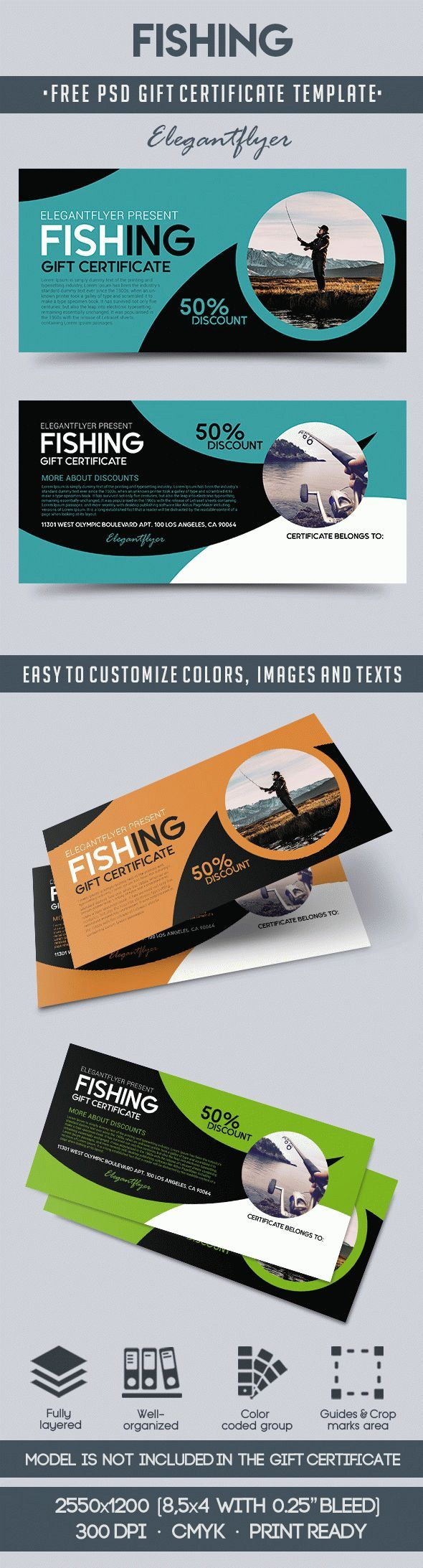 The 66 best free gift certificate templates images on pinterest fishing free gift certificate psd template yelopaper Gallery