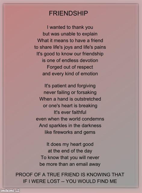 friendship poems   FRIENDSHIP POEM