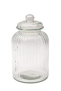 GLASS COOKIE JAR, 4,6L